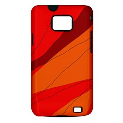 Red and orange decorative abstraction Samsung Galaxy S II i9100 Hardshell Case (PC+Silicone)