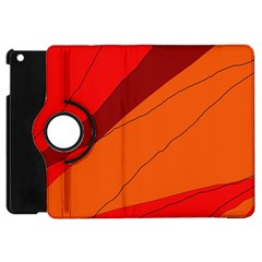 Red and orange decorative abstraction Apple iPad Mini Flip 360 Case