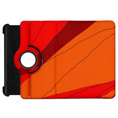 Red and orange decorative abstraction Kindle Fire HD Flip 360 Case