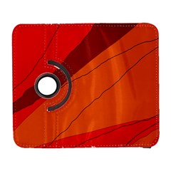 Red and orange decorative abstraction Samsung Galaxy S  III Flip 360 Case
