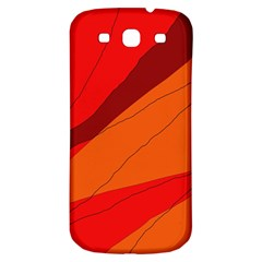 Red and orange decorative abstraction Samsung Galaxy S3 S III Classic Hardshell Back Case