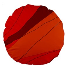 Red and orange decorative abstraction Large 18  Premium Round Cushions