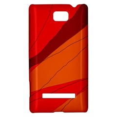 Red and orange decorative abstraction HTC 8S Hardshell Case