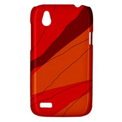 Red and orange decorative abstraction HTC Desire V (T328W) Hardshell Case