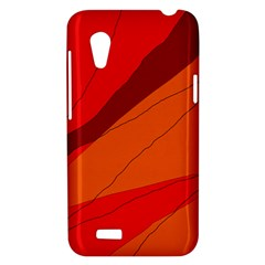 Red and orange decorative abstraction HTC Desire VT (T328T) Hardshell Case