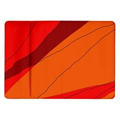 Red and orange decorative abstraction Samsung Galaxy Tab 10.1  P7500 Flip Case