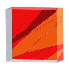 Red and orange decorative abstraction 5  x 5  Acrylic Photo Blocks