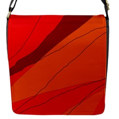 Red and orange decorative abstraction Flap Messenger Bag (S)