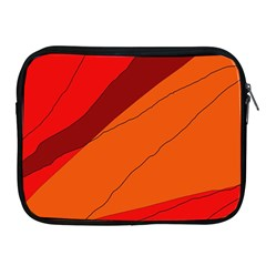 Red and orange decorative abstraction Apple iPad 2/3/4 Zipper Cases