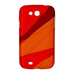Red and orange decorative abstraction Samsung Galaxy Grand GT-I9128 Hardshell Case