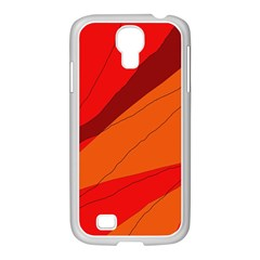 Red And Orange Decorative Abstraction Samsung Galaxy S4 I9500/ I9505 Case (white)