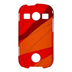 Red and orange decorative abstraction Samsung Galaxy S7710 Xcover 2 Hardshell Case
