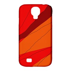 Red and orange decorative abstraction Samsung Galaxy S4 Classic Hardshell Case (PC+Silicone)