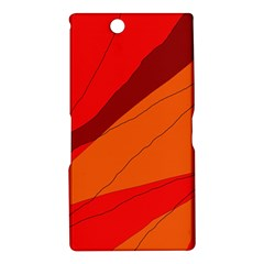 Red and orange decorative abstraction Sony Xperia Z Ultra