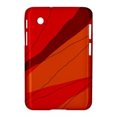 Red and orange decorative abstraction Samsung Galaxy Tab 2 (7 ) P3100 Hardshell Case