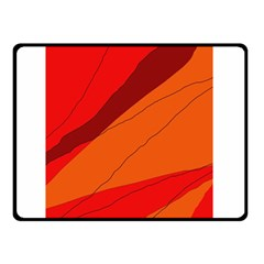 Red and orange decorative abstraction Double Sided Fleece Blanket (Small)