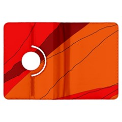 Red and orange decorative abstraction Kindle Fire HDX Flip 360 Case