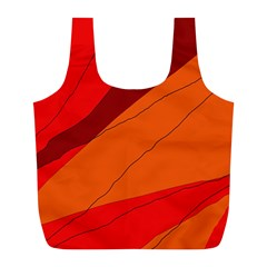 Red and orange decorative abstraction Full Print Recycle Bags (L)