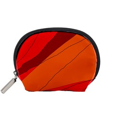 Red and orange decorative abstraction Accessory Pouches (Small)