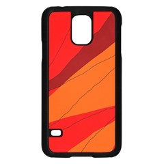 Red and orange decorative abstraction Samsung Galaxy S5 Case (Black)