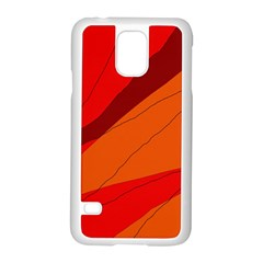 Red and orange decorative abstraction Samsung Galaxy S5 Case (White)