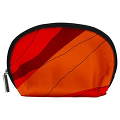 Red and orange decorative abstraction Accessory Pouches (Large)