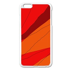 Red and orange decorative abstraction Apple iPhone 6 Plus/6S Plus Enamel White Case