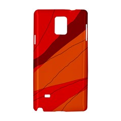 Red and orange decorative abstraction Samsung Galaxy Note 4 Hardshell Case