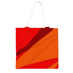 Red and orange decorative abstraction Grocery Light Tote Bag