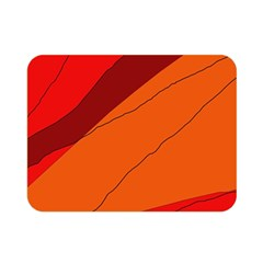 Red and orange decorative abstraction Double Sided Flano Blanket (Mini)