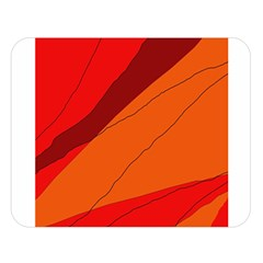 Red and orange decorative abstraction Double Sided Flano Blanket (Large)