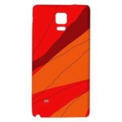 Red and orange decorative abstraction Galaxy Note 4 Back Case