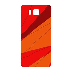 Red and orange decorative abstraction Samsung Galaxy Alpha Hardshell Back Case