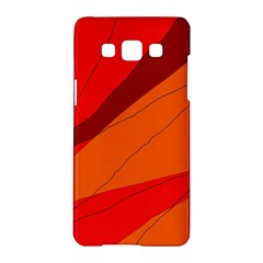 Red and orange decorative abstraction Samsung Galaxy A5 Hardshell Case