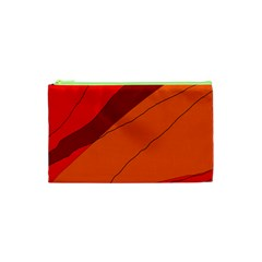 Red and orange decorative abstraction Cosmetic Bag (XS)