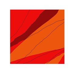 Red and orange decorative abstraction Small Satin Scarf (Square)