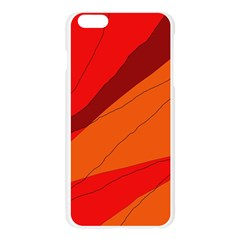 Red and orange decorative abstraction Apple Seamless iPhone 6 Plus/6S Plus Case (Transparent)