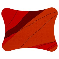 Red And Orange Decorative Abstraction Jigsaw Puzzle Photo Stand (bow)
