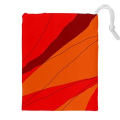 Red and orange decorative abstraction Drawstring Pouches (XXL)