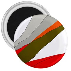 Decorative abstraction 3  Magnets