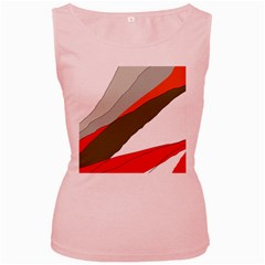 Decorative abstraction Women s Pink Tank Top