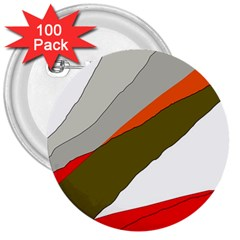 Decorative abstraction 3  Buttons (100 pack)