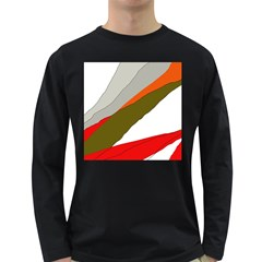 Decorative abstraction Long Sleeve Dark T-Shirts