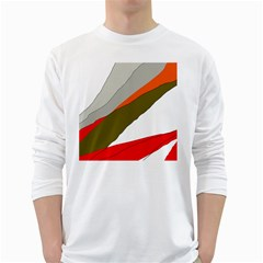 Decorative abstraction White Long Sleeve T-Shirts