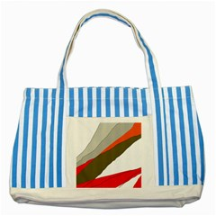 Decorative abstraction Striped Blue Tote Bag