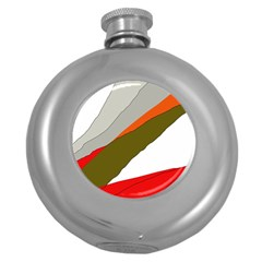 Decorative abstraction Round Hip Flask (5 oz)