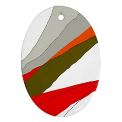 Decorative abstraction Oval Ornament (Two Sides)