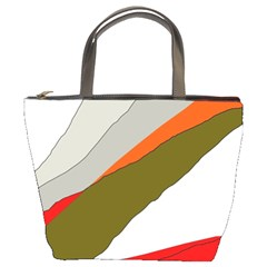Decorative abstraction Bucket Bags