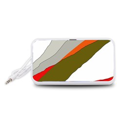 Decorative abstraction Portable Speaker (White)