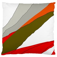 Decorative abstraction Large Cushion Case (Two Sides)